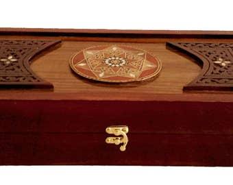 Backgammon, Backgammon Board, Backgammon set, Wooden Backgammon, Carved Backgammon, Syrian artisan mosaic backgammon, Marquetry Backgammon