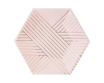 Blush pink plates | Etsy