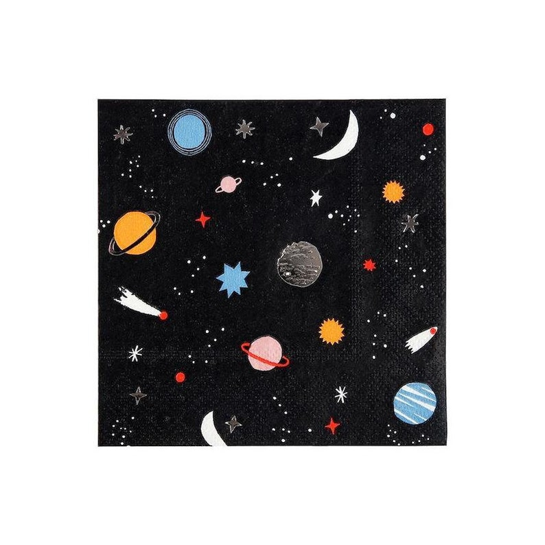 Astronaut Party Napkins Outer Space Decor Boy Birthday Party Ideas 1st Birthday Space Party Supplies Little Space