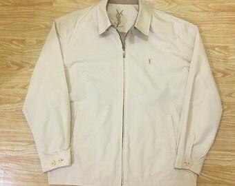 88b9bbfc434 Vintage YSL Yves Saint Laurent Pour Homme Light Jacket