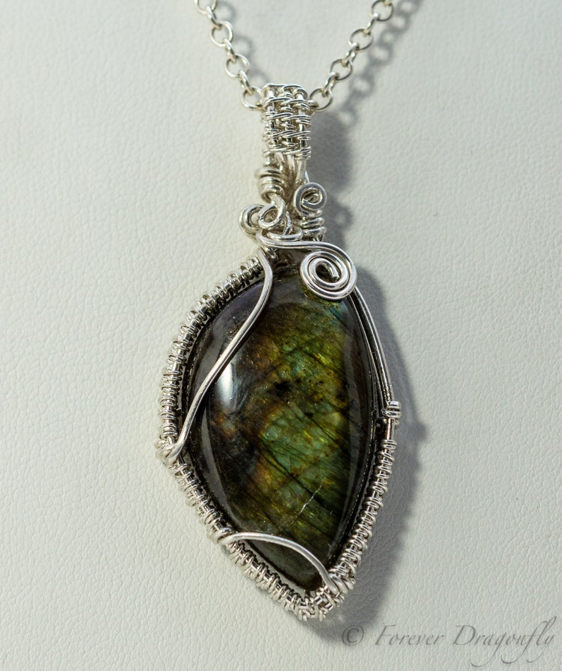 Gemstone Necklace Labradorite Necklace