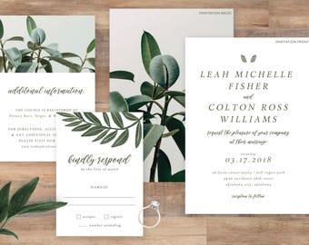 Modern Greenery Wedding Suite