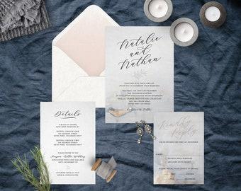 Modern Stone Wedding Suite