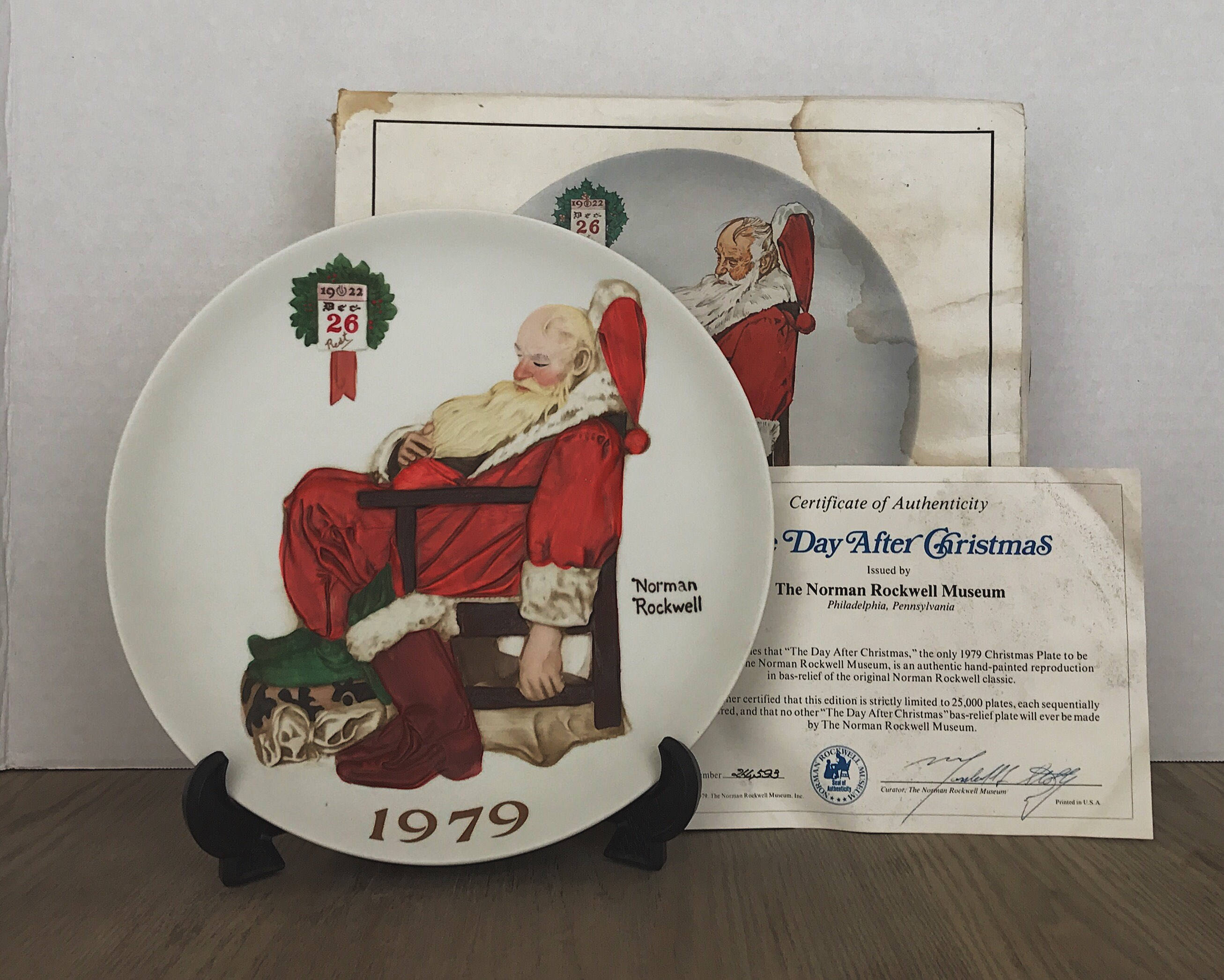 Vintage Norman Rockwell Santa Plate The Day After Christmas | Etsy