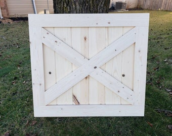 Unfinished FREE shipping/hardware INCLUDED- Custom Rustic Barn Baby Gate / Pet Gate