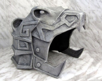 Skyrim Nordic Carved Armor Helmet (Bear Style ) for Larp, Cosplay and Elder Scrolls Life Sized Display Collectible