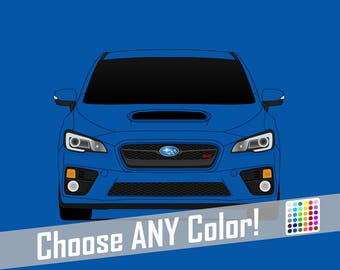 Subaru STI G4 Poster // WRX // Impreza // Colorful Car Posters