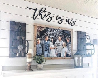 This is us, wood words, wood word cut out, laser cut, wedding gift, wooden wall art, home decor, wall decor, gift, realtor gift ideas, signs