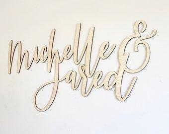 Custom couple name sign, custom wedding sign, custom wooden last name sign, wedding last name sign, wedding decorations