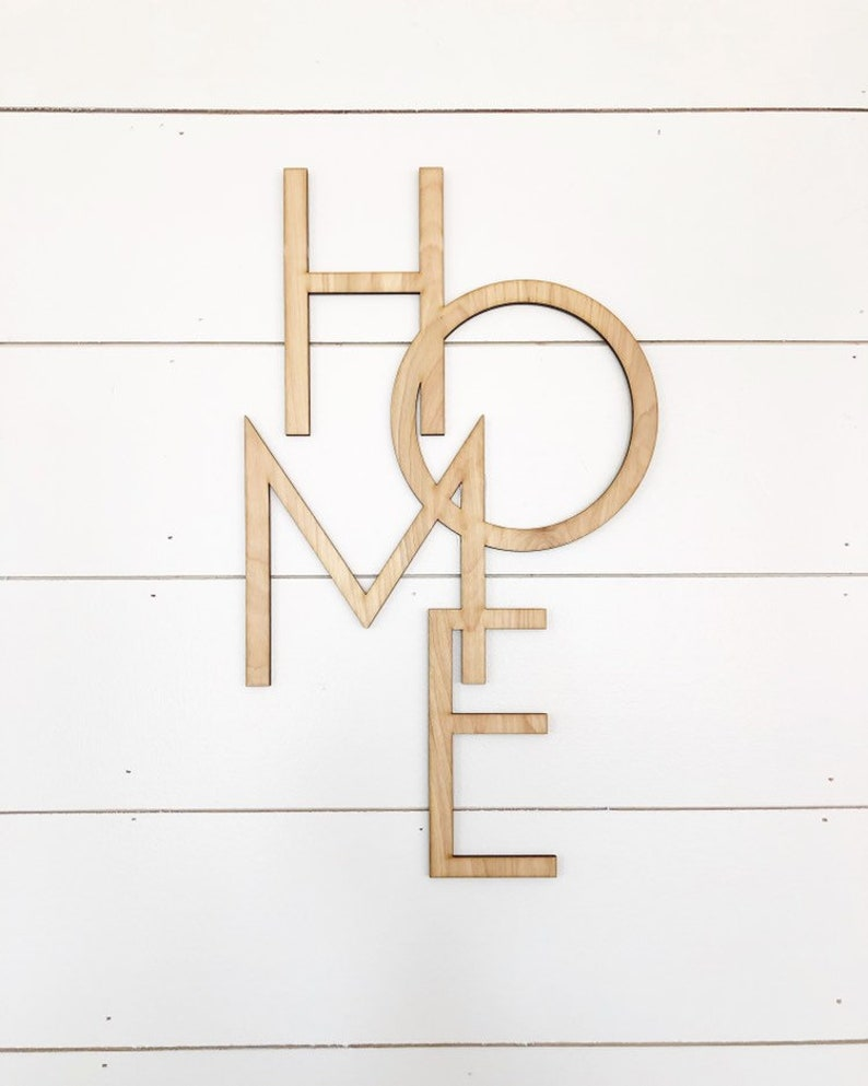 home vertical wood words, wood word cut out, laser cut, wooden wall art,  house warming gift, unique decor, farmhouse style decor, anniversar