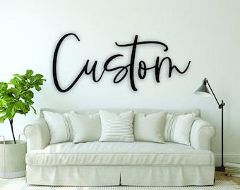 Custom wood sign, custom name sign, custom cutout, custom quote, custom word, custom wood word, baby name, custom cutout, nursery