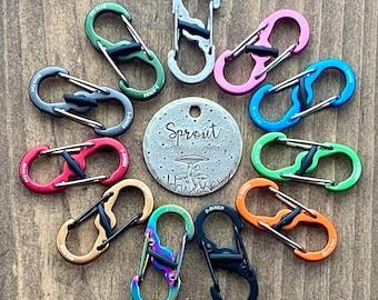 Dog Tag Clip, S-BINER® TAGLOCK™, Nite Ize Tag-lock, Dog Tag Clip, Tag Changer, Tag Clip, Pet Tag Clip, Pet Collar Clip
