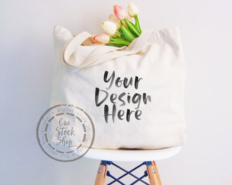 Awe Inspiring Tote Bag Mock Up Photo Mock Up Printful Tote Bag Stock Machost Co Dining Chair Design Ideas Machostcouk