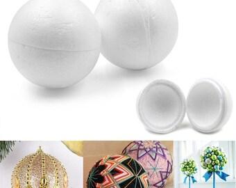Bulk Pack 600 Assorted Polystyrene Craft Easter Eggs /& Balls Various Sizes