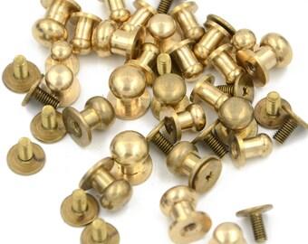 10mm Round Head Brass Antique Copper Furniture Miniature Nails Pack of 100