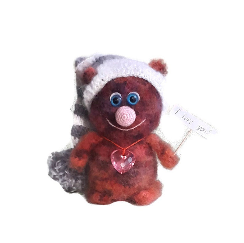 Christmas Easter birthday mother/'s day gift Red cat in hat crochet best gift for every day
