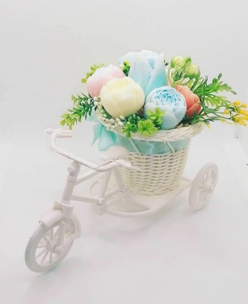 Woven Bicycle Planter Basket