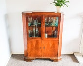 Antique 19th Century Elm Glass Display Cabinet Bookcase Or Drinks Cabinet With Cupboards Oak Elm Bookshelf Wall Cabinet Vintage