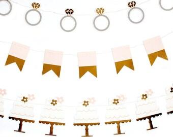 Bridal Shower banner set, double sided elegant design, fabulous decoration for a bridal shower, engagement party, sweet table