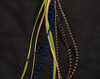 Halloween Inspired Premium Hair Feather Extensions - DIY Kit!