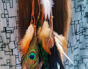 Boho Gypsy Feather Head Band Hair Feathers