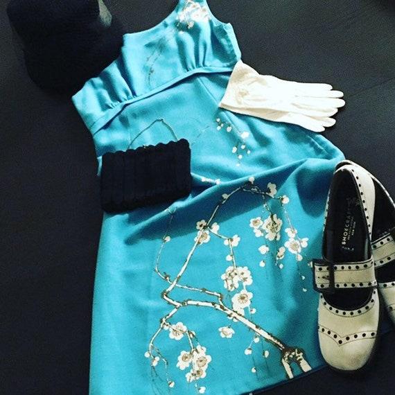 Vintage Cherry Blossom Dress