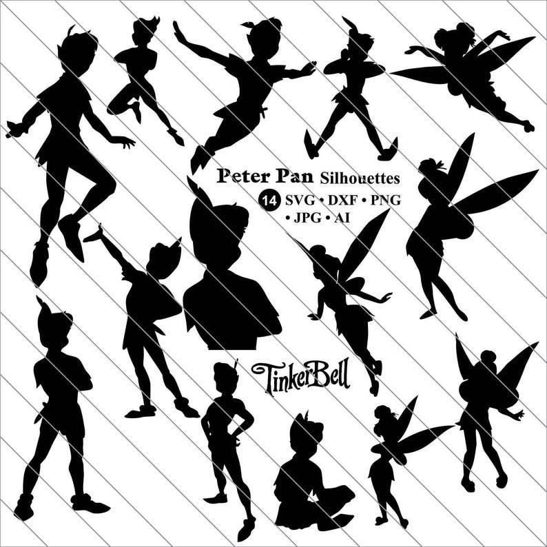 Peter Pan Svg Peter Pan Silhouettes Clipart Bundle Svg