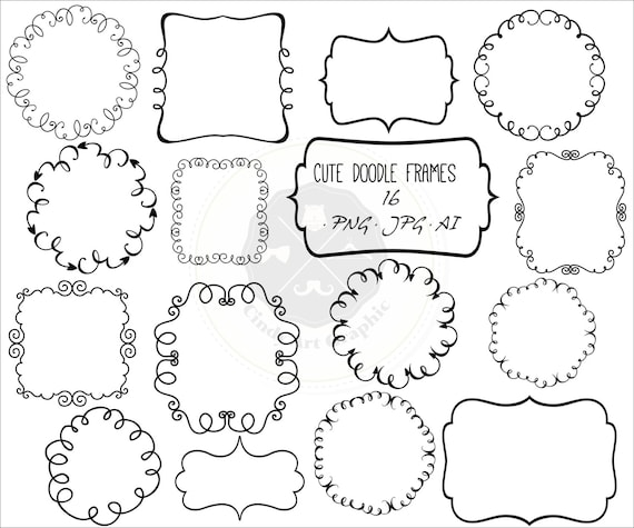 Cute Doodle Frames Clipartframe Clipartdoodle Borders