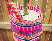 FABRIC BASKET PLANTER fabric storage basket, pot plant holder, plant holder, fabric pot, cactus basket