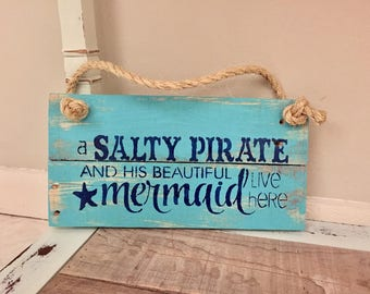youngs Inc Wood Salty Pirate Wall Sign Multi