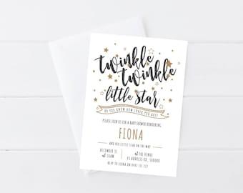 Twinkle Twinkle Baby Shower Invitation | Twinkle Twinkle Little Star | Baby Sprinkle Invitation | Printable Baby Shower Invitation