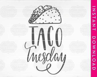 Taco tuesday clipart | Etsy