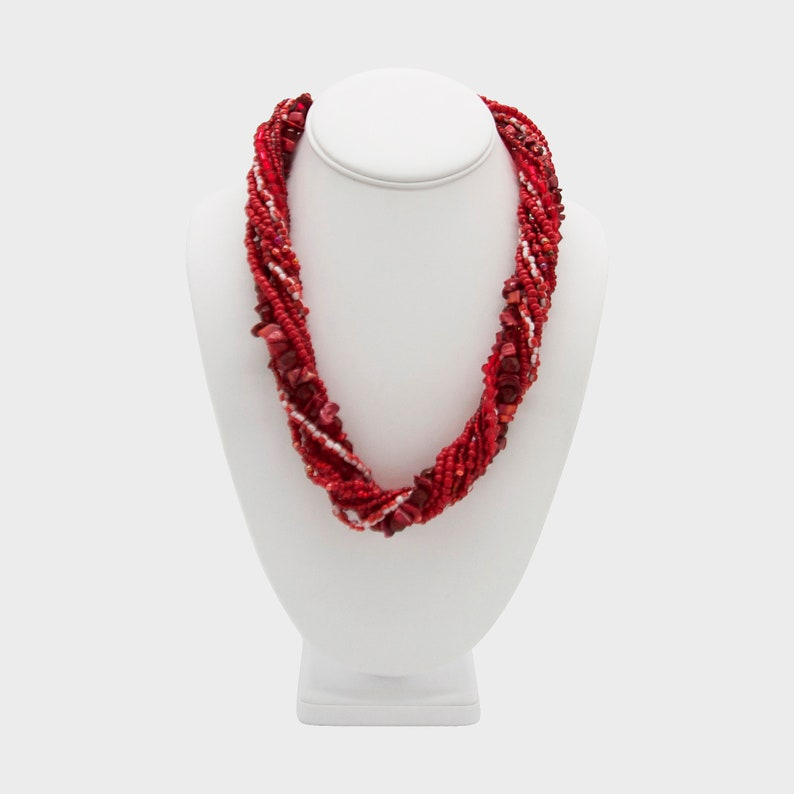 African Necklace,Anele Chunky Twist Necklace,African Handmade Necklace,Artisanal Jewelry,Gift for women,Gift for her,Mothers Day Gift