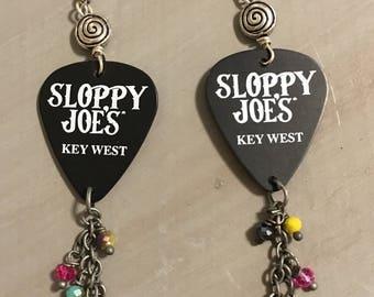 Sloppy Joe's Key West guitar pick earrings!