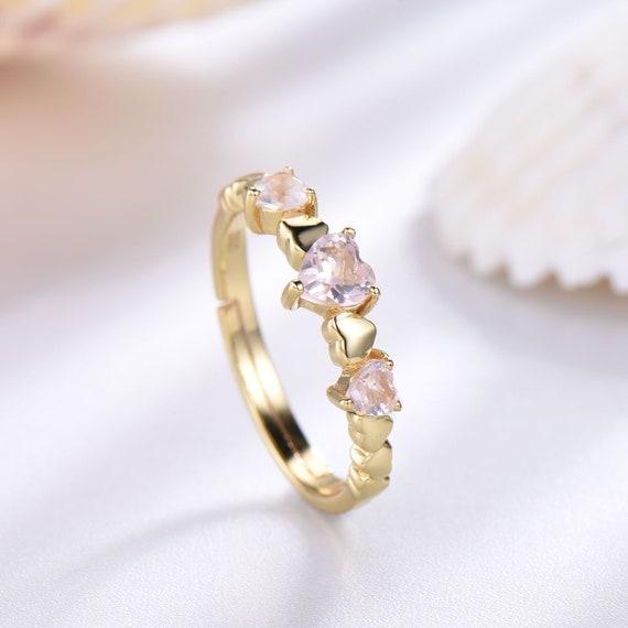 Ring For Womens Halo Ring Promise Ring Womens Ring Rose Quatrz Ring Engagement Ring Pink Rose Quartz Ring Anniversary Gift