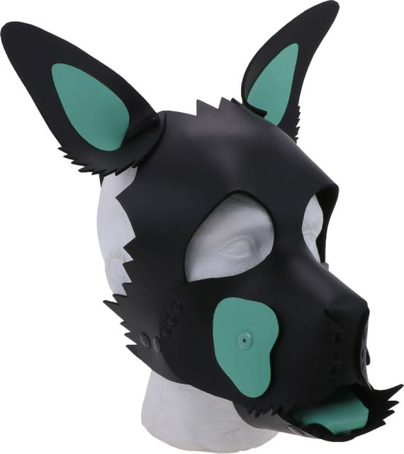 Unisex Rubber Doggy Mask Multi-functional Rubber Latex Puppy Hood Free Ship