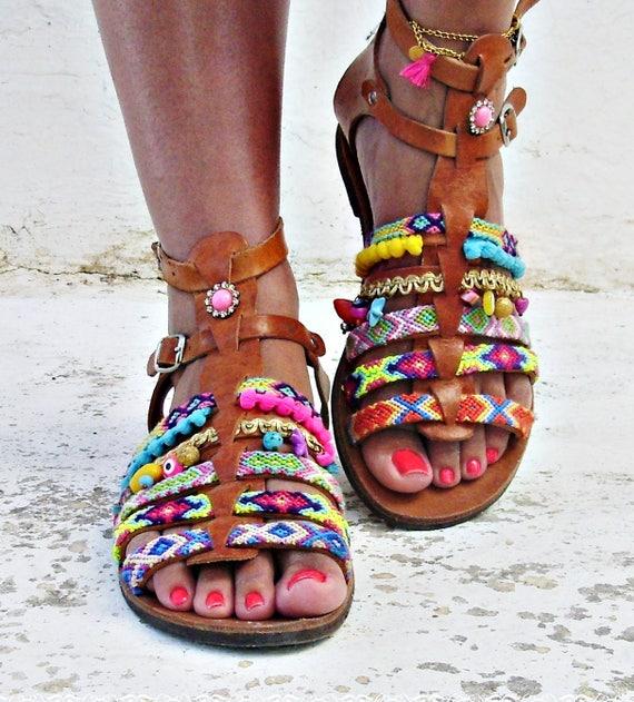 leather sandals greek boho Luxurious sandals sandals dXq7FxEg