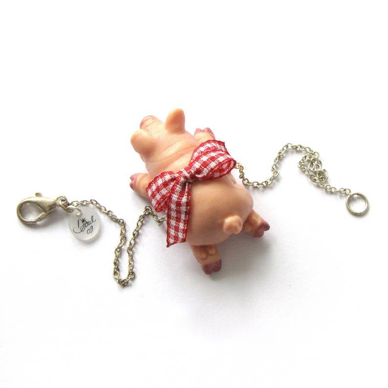 Bracelet small piggy mark jewelry OOAK image 0