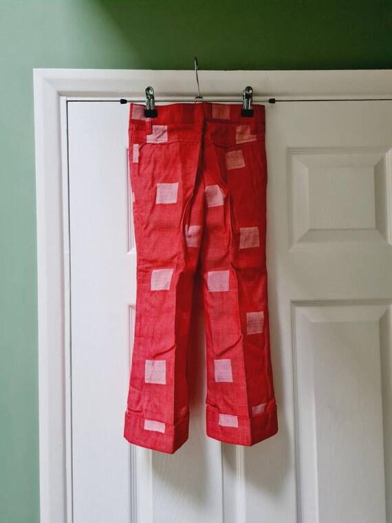 Vintage unworn dead stock 1970s children's red fl… - image 3