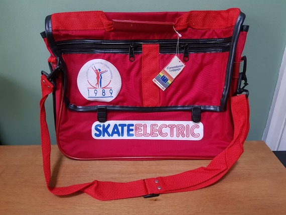 RARE! Ice skating judge's vintage red briefcase/ba