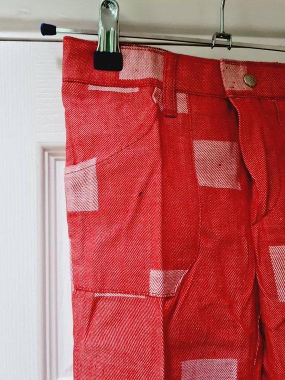 Vintage unworn dead stock 1970s children's red fl… - image 5