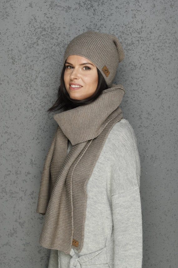 3e9e2f68fa4 Merino wool scarf   merino wool hat   merino wool cap   winter