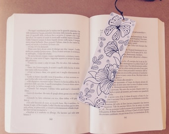 Coloring bookmark, bookmark coloring and customize