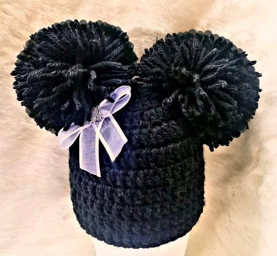 Crochet girls pom pom hat for newborn baby 0-3-6-9-12 6-12  ea69b7eda69