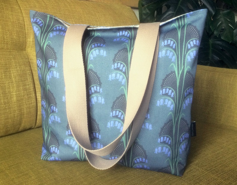 Bluebell Tote Bag  Cotton Long Handled Tote Bag  Bluebell image 0