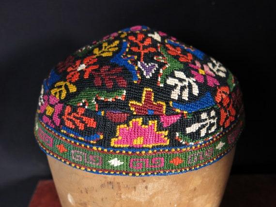 Silk embroidered Uzbek skullcap