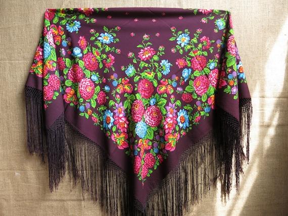 Traditional Wool Turkmen Oversized Shawl - Scarf … - image 4