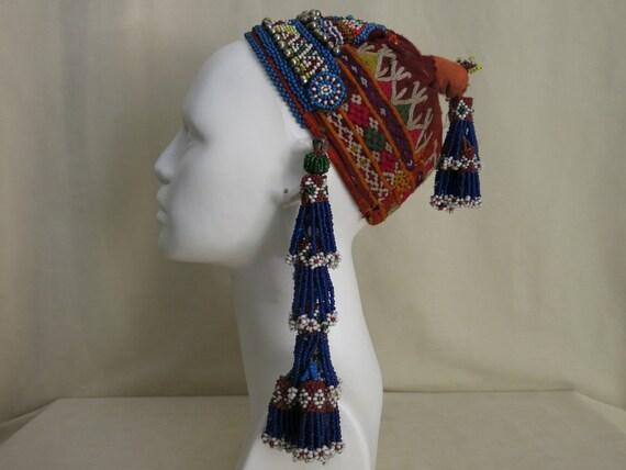 Vintage Afghan tribal girl's hat