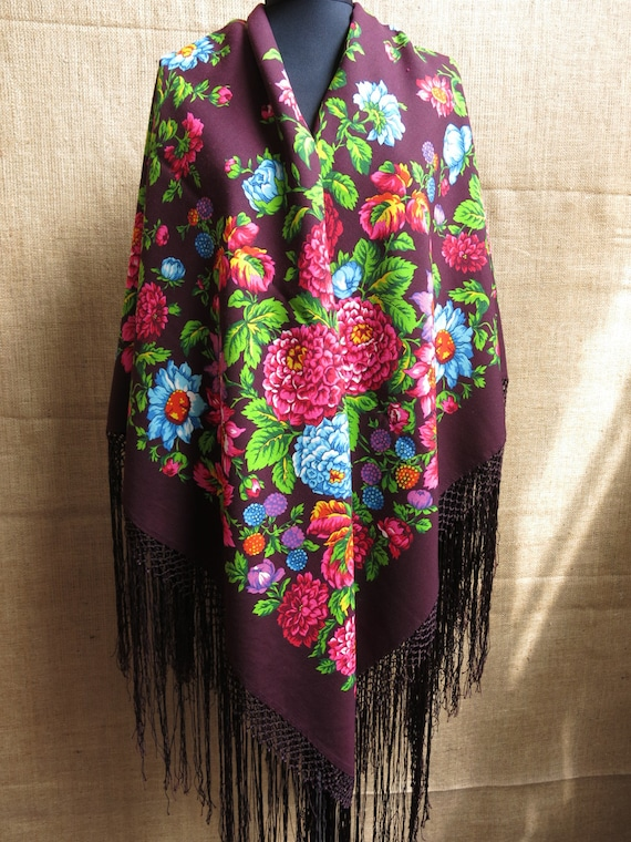 Traditional Wool Turkmen Oversized Shawl - Scarf … - image 7