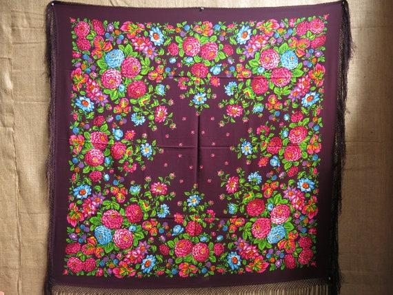 Traditional Wool Turkmen Oversized Shawl - Scarf … - image 2